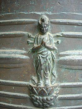 音楽寺の梵鐘に刻まれた千手観音